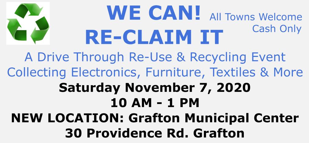 Recycling Event Nov 7, 2020