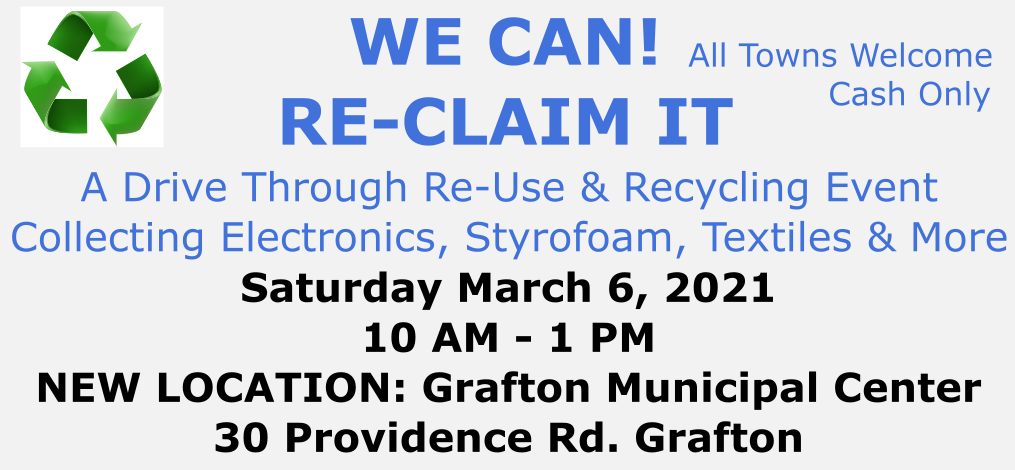 Recycling Event March 6, 2021