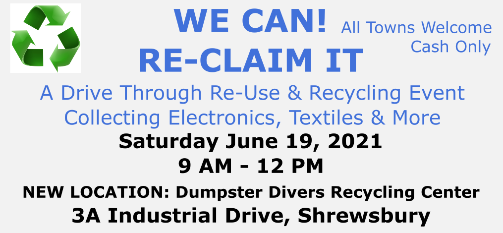 Recycling Event June 19, 2021