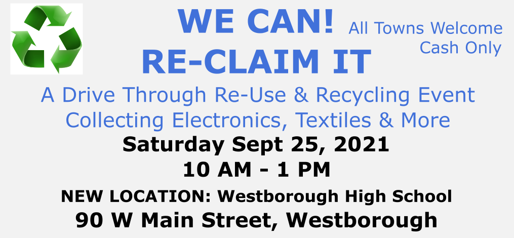 Recycling Event Sept 25, 2021